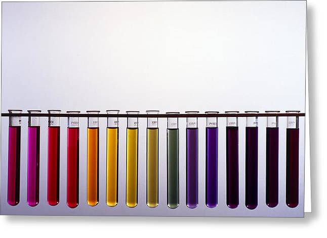 Neutral Colours Greeting Cards - Universal Indicator Scale Greeting Card by Andrew Lambert Photography