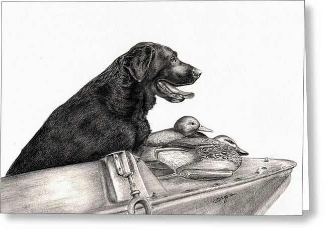 Graphite Greeting Cards - Untitled Greeting Card by Kathleen Kelly Thompson