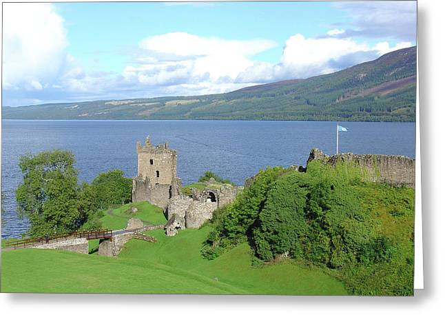 Moat Mountain Greeting Cards - Urquhart Castle Greeting Card by Charles and Melisa Morrison