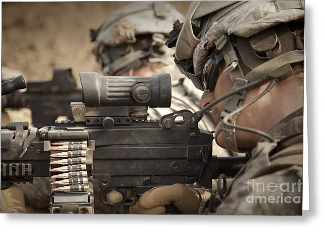 Fed Greeting Cards - U.s. Army Rangers In Afghanistan Combat Greeting Card by Tom Weber