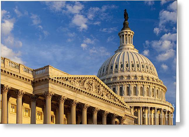 Symbol Of Power Greeting Cards - US Capitol Greeting Card by Brian Jannsen