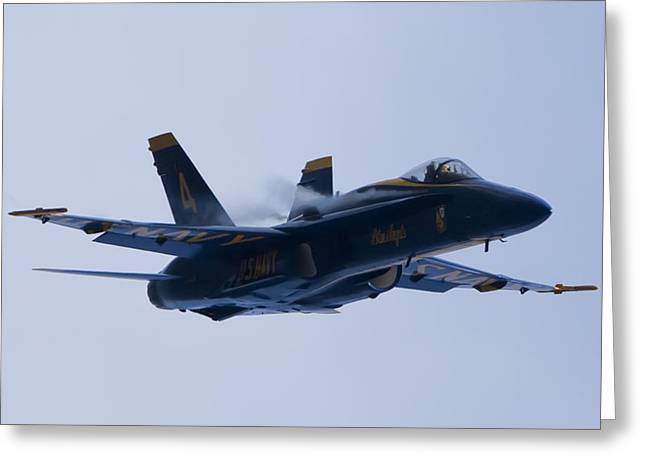 US Navy Blue Angels High Speed Turn Greeting Card by Dustin K Ryan