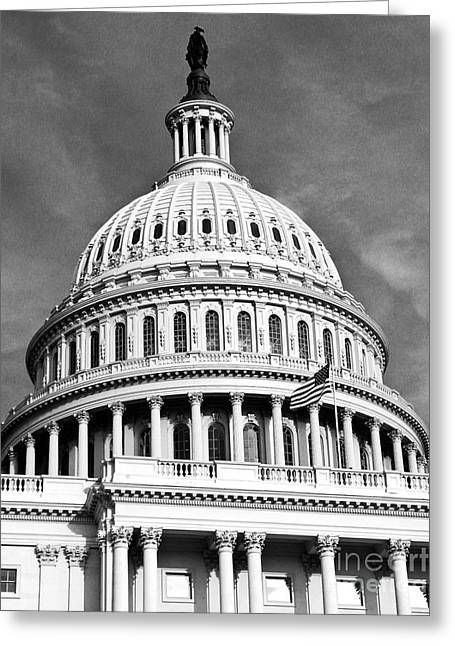 Us Senate Greeting Cards - US Senate Greeting Card by Syed Aqueel