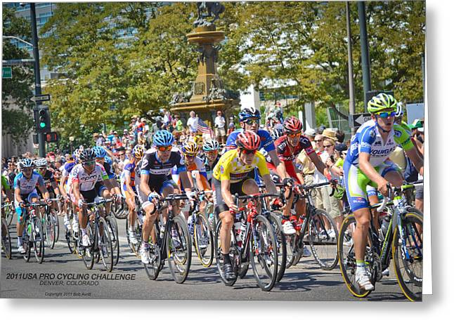 Levi Greeting Cards - USA Pro Cycling Challenge 2011 Greeting Card by Bob Avritt