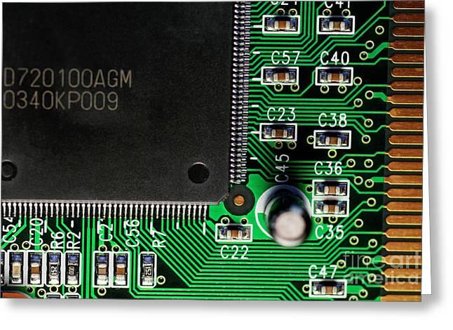 Pcb Greeting Cards - USB board Greeting Card by Sami Sarkis