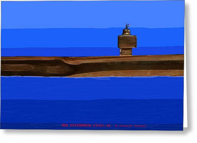 USS ENTERPRISE CVAN 65 Greeting Card by Carl Deaville