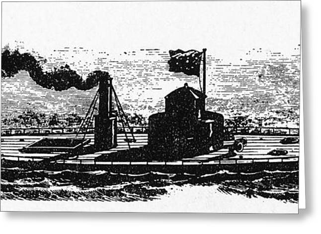 Us History Greeting Cards - Uss Monitor Greeting Card by Photo Researchers