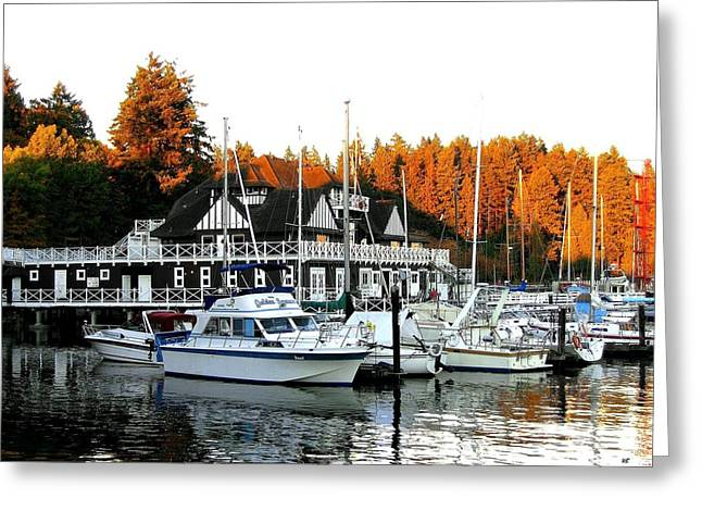 Stanley Park Greeting Cards - Vancouver Rowing Club Greeting Card by Will Borden