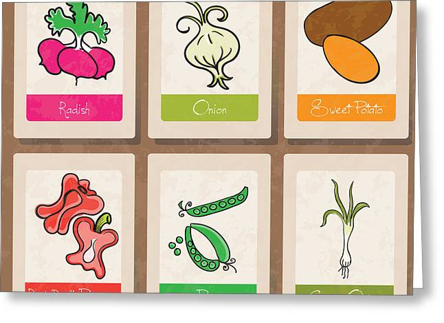 Food Digital Greeting Cards - Vegetables Greeting Card by HD Connelly