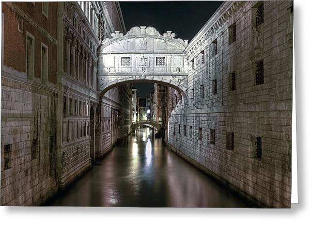 Sighs Greeting Cards - Venice Greeting Card by Joana Kruse