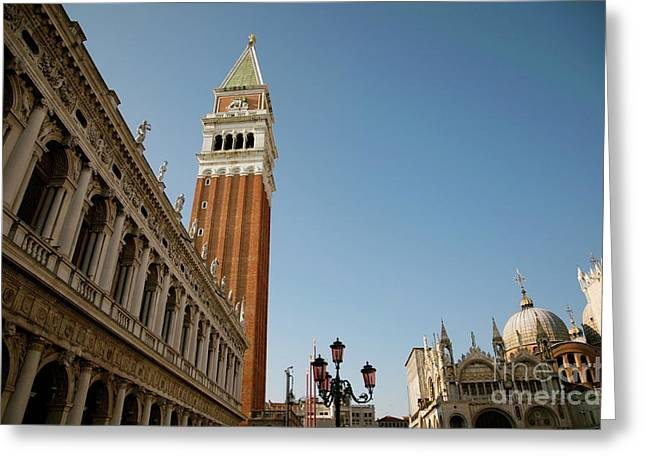 Venice Greeting Card by Louise Fahy