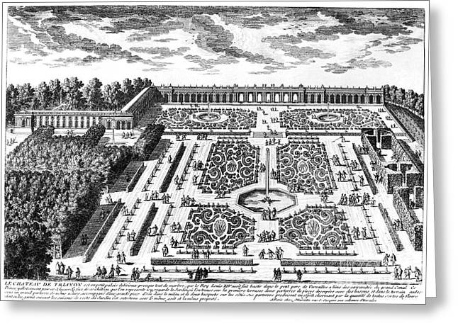 Trianon Greeting Cards - Versailles: Garden, 1685 Greeting Card by Granger