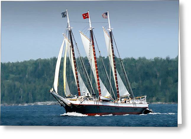 Tall Ships Greeting Cards - Victory Chimes Greeting Card by Fred LeBlanc