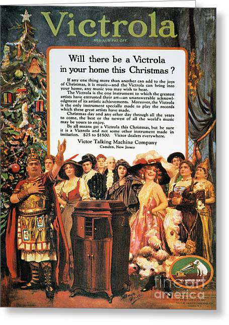 Nippers Greeting Cards - Victrola Advertisement Greeting Card by Granger