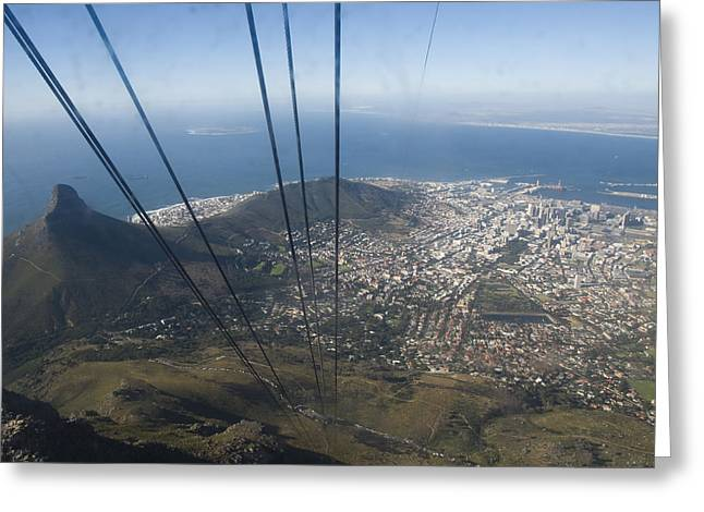 Cape Town Greeting Cards - View Of Cape Town From Table Mountain Greeting Card by Stacy Gold