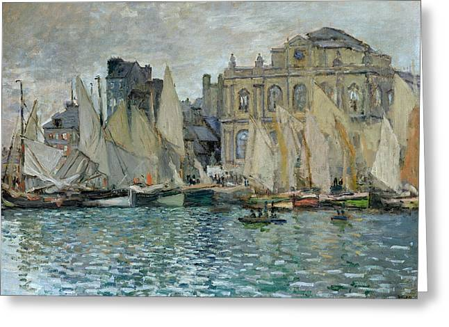 Masterpiece Paintings Greeting Cards - View of Le Havre Greeting Card by Claude Monet