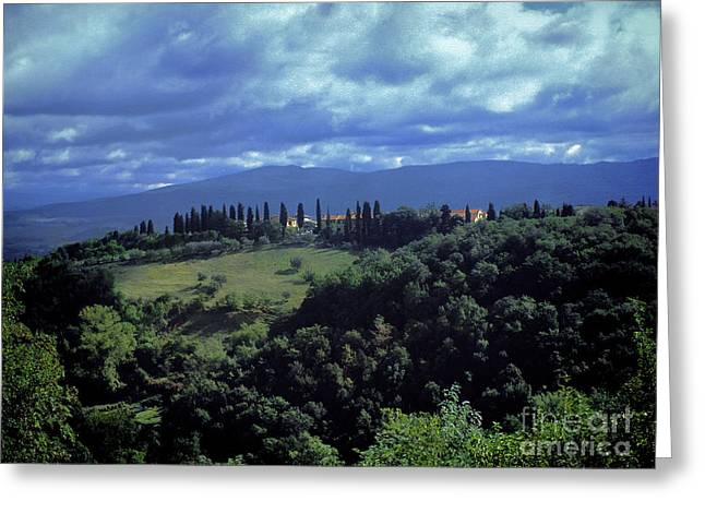Outlook Greeting Cards - View of Tuscany Greeting Card by Karen Lewis