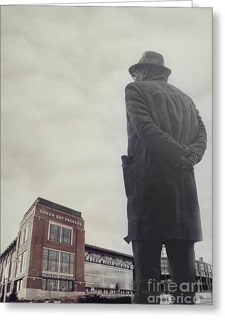 Bay Photographs Greeting Cards - Vince Lombardi Greeting Card by Joel Witmeyer