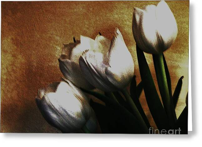 Vintage Bouquet Greeting Card by Marsha Heiken