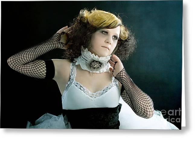Vintage Dancer Series Greeting Card by Cindy Singleton