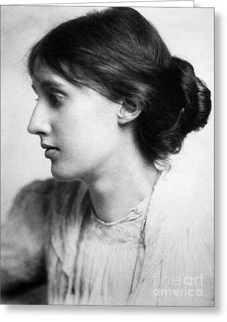 Turn Of The Century Greeting Cards - Virginia Woolf (1882-1941) Greeting Card by Granger