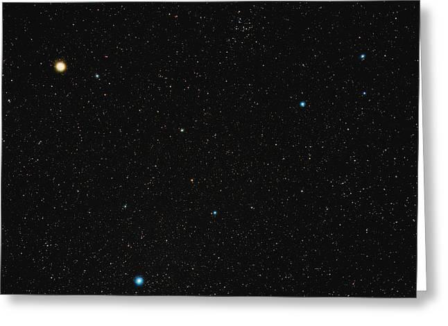Arcturus Greeting Cards - Virgo Constellation Greeting Card by Eckhard Slawik