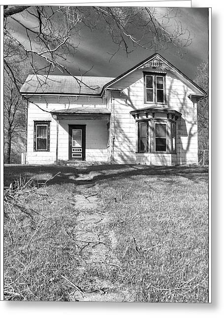 Farmlife Greeting Cards - Visiting the Old Homestead Greeting Card by Guy Whiteley