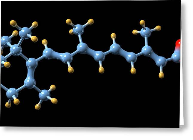 Vitamin A (retinoic Acid) Molecule Greeting Card by Dr Mark J. Winter