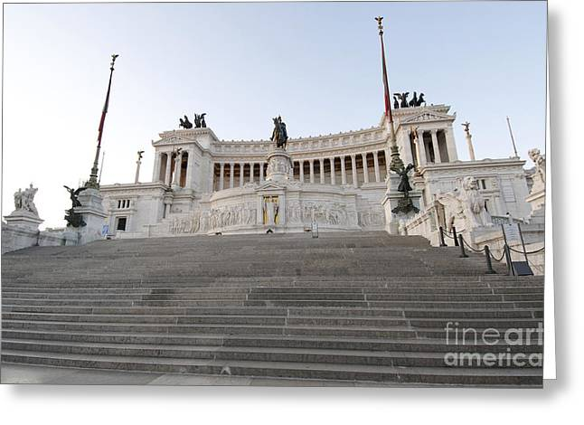 Historically Greeting Cards - Vittoriano Monument to Victor Emmanuel II. Rome Greeting Card by Bernard Jaubert