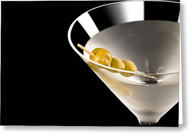 Martini Greeting Cards - Vodka Martini Greeting Card by Ulrich Schade