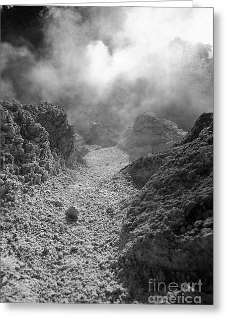 Vulcanology Greeting Cards - Volcanic steam Greeting Card by Gaspar Avila