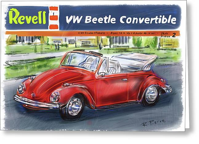 Model Kits Greeting Cards - VW Beetle Greeting Card by Russell Pierce
