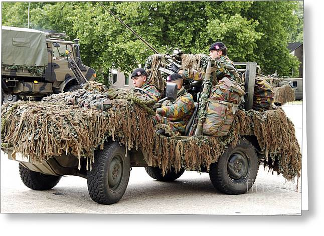 Vw Iltis Jeeps Used By Scout Or Recce Greeting Card by Luc De Jaeger
