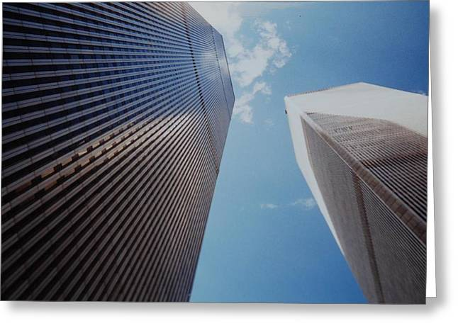 Wtc 11 Greeting Cards - W T C 1 And 2 Greeting Card by Rob Hans