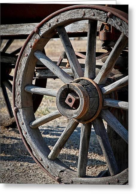 Lewis Gun Greeting Cards - Wagon Wheel Greeting Card by Athena Mckinzie