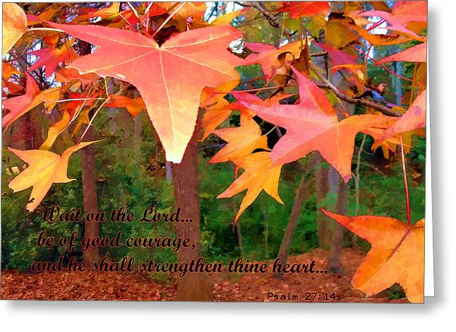 Wait On The Lord Greeting Card by Larry Bishop