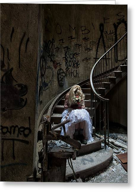 Best Sellers -  - Psychiatric Greeting Cards - Walkway Greeting Card by Roni Chastain