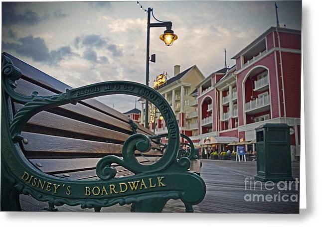 Walt Disney Boardwalk Greeting Cards - Walt Disney World - Boardwalk Villas  Greeting Card by AK Photography