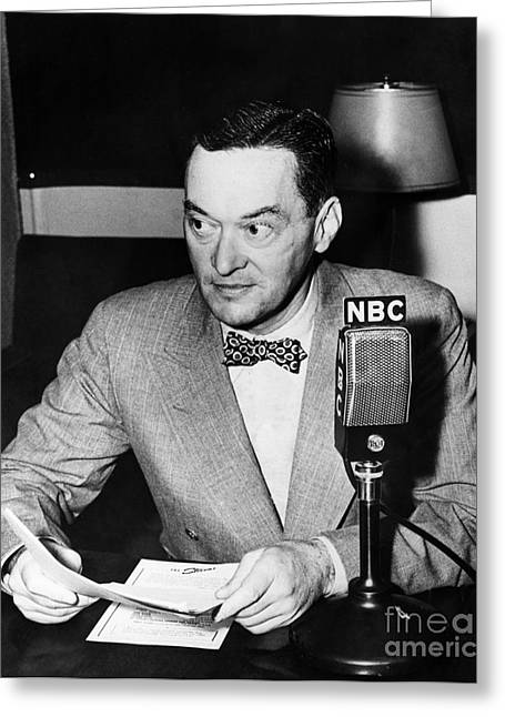 Bowtie Greeting Cards - Walter Lippmann (1889-1974) Greeting Card by Granger