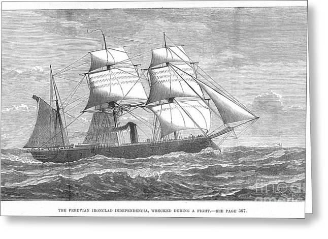 1880s Greeting Cards - War Of The Pacific, 1879-1884 Greeting Card by Granger