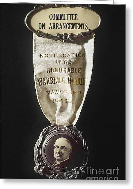 Nomination Greeting Cards - Warren Harding (1865-1923) Greeting Card by Granger