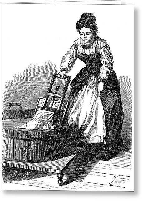 Apron Greeting Cards - Washboard, 1870 Greeting Card by Granger