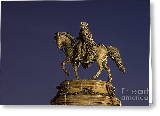 Eakins Oval Greeting Cards - Washington Monument Sculpture  Greeting Card by John Greim