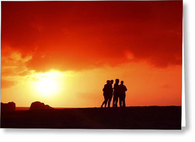 Vince Greeting Cards - Watching the Sunset Greeting Card by Vince Cavataio - Printscapes