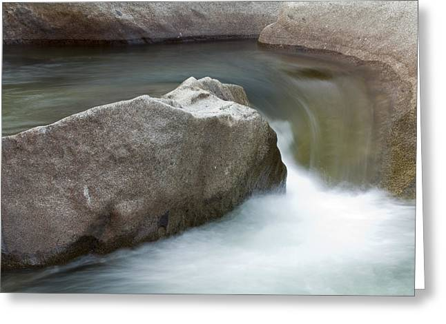 Stream Greeting Cards - Water Flowing In The South Fork Kings Greeting Card by Rich Reid