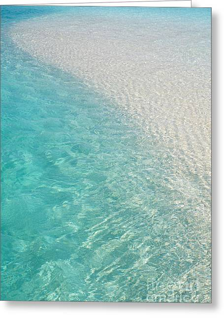 Best Ocean Photography Greeting Cards - Water Meditation I. Five Elements. Healing with Feng Shui and Color Therapy in Interior Design Greeting Card by Jenny Rainbow
