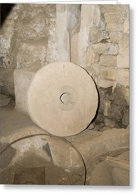 Millstone Greeting Cards - Water-powered Flour Mill Greeting Card by Photostock-israel