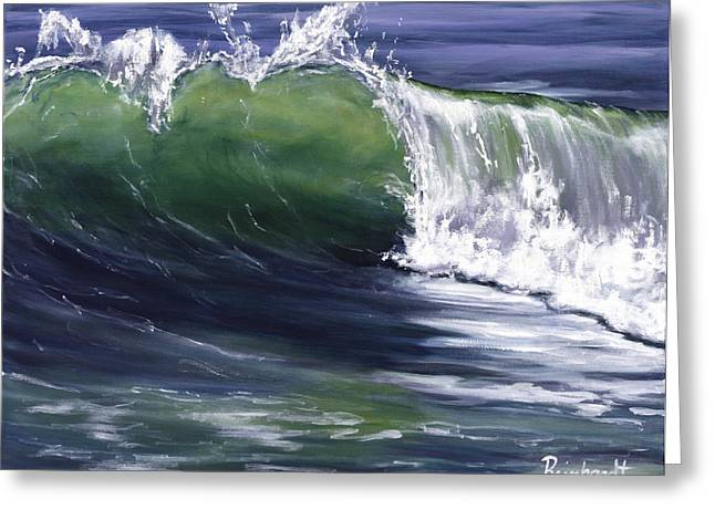 Wave 8 Greeting Card by LISA REINHARDT