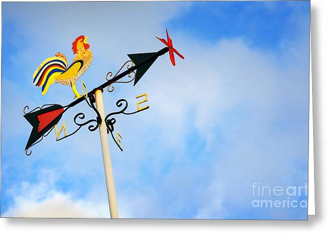 Weather Cock Greeting Cards - Weather Vane Greeting Card by Carlos Caetano