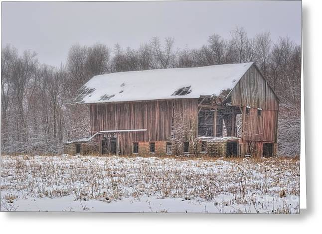 Weathered Barn Greeting Cards - Weathered and Worn Greeting Card by Pamela Baker